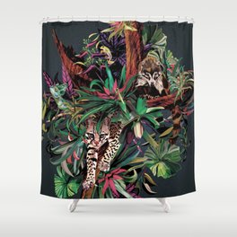 Rainforest corner Shower Curtain