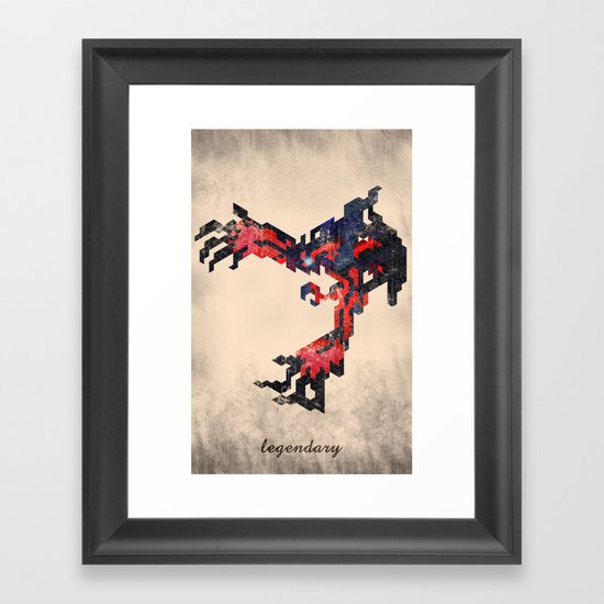 I Am Legendary Y- Geometric Framed Art Print