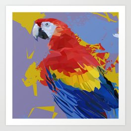 Parrot Macaw Digital Art Print Art Print