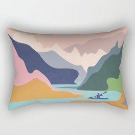 River Canyon Kayaking Rectangular Pillow