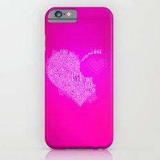 Happy valentine day heart iPhone 6s Slim Case