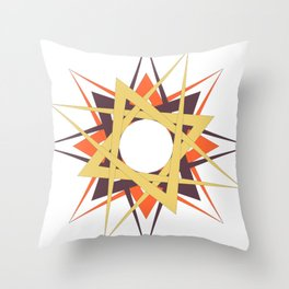 Solar Brightness by Freddi Jr Throw Pillow