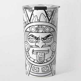 Pencil Wars Shield Travel Mug
