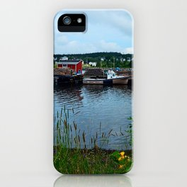 Fisherman's Wharf in Cape Breton iPhone Case