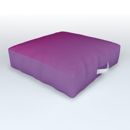 Pantone Chive Blossom Purple 18-3634 and Vivacious Red 19-2045 Ombre Gradient Blend Outdoor Floor Cushion