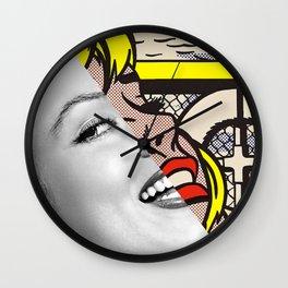 """Roy Lichtenstein's """"Sailboat Girl"""" & M.M. Wall Clock"""