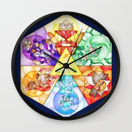 The Seven Sages Wall Clock