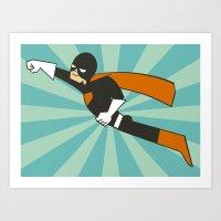 superheroes Art Prints featuring Superheroes! by EloisaD