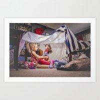 The Blanket Fort  Art Print