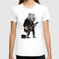 rhino T-shirts featuring Rhino by Ronan Lynam
