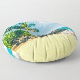 Paako Beach Makena Maui Hawaii Floor Pillow