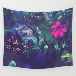 Gathering of Flowers - [Purple Version] Wall Tapestry