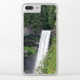 Beautiful Brandywine Falls in Rainforest Near Whistler, British Columbia Clear iPhone Case