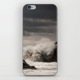 Waves Batter the Ocean Rocks During Rough Weather at Harris Beach State Park in Brookings, Oregon iPhone Skin