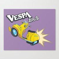 flcl Canvas Prints featuring Vespa Onna by KogiZoné