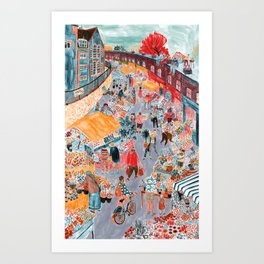 Columbia Road Flower Market Art Print