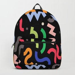 Decorative Curly Pattern Backpack