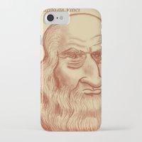 da vinci iPhone & iPod Cases featuring Leonardo da Vinci by Roberto Núñez