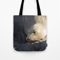 Elephant Seal: Contentment Tote Bag
