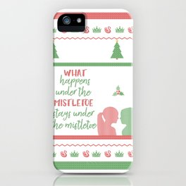 Ugly Christmas Sweater iPhone Case