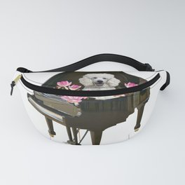 Poodle dog in Piano - Lotos Flowers Fanny Pack