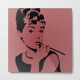 Pink Audrey Metal Print