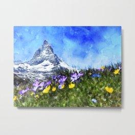 matterhorn, alpine, zermatt, gornergat, valais Metal Print