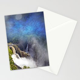 Wild waterfall in abstract Stationery Cards