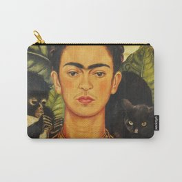 Frida Kahlo Self-Portrait Thorn Necklace and Hummingbird Carry-All Pouch