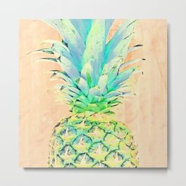 Pastel Pineapple Metal Print