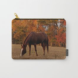 Horse Fall Days of Grazing Carry-All Pouch