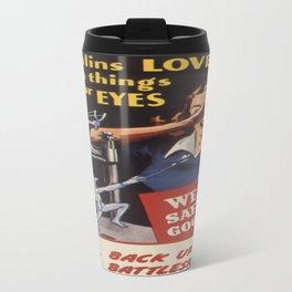 Vintage poster - Workplace safety Travel Mug