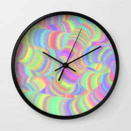 pastel worms Wall Clock