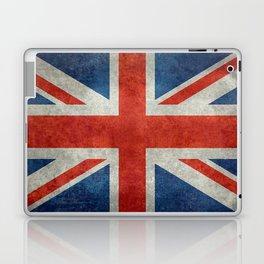 """UK Union Jack flag """"Bright"""" retro grungy style Laptop & iPad Skin"""