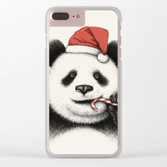 Festive Panda Clear iPhone Case