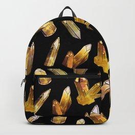 Citrine on Black Backpack