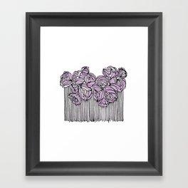 String Bouquet - Lavender Framed Art Print