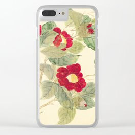 Red flowers , red flowers Clear iPhone Case