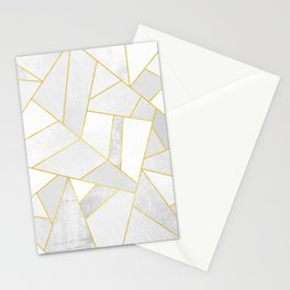 White Stone Stationery Cards