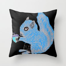 Squirrel in Colour Throw Pillow