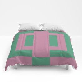 Green + Pink Comforters
