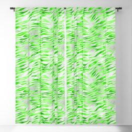 Green Tiger Print Blackout Curtain