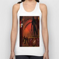 football Tank Tops featuring Football by Robin Curtiss