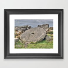 Millstone on edge Framed Art Print