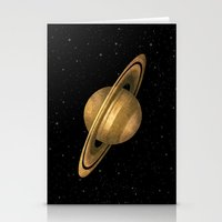 saturn Stationery Cards featuring Saturn by Terry Fan