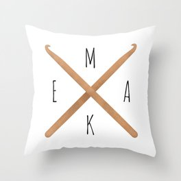 MAKE     Crochet Hooks Throw Pillow