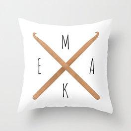 MAKE  |  Crochet Hooks Throw Pillow