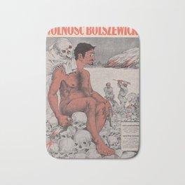 Vintage poster - Wolnosc Bolszewicka Bath Mat