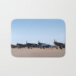 WW2 Warbirds Line-up, Sonoma County Airport, California Bath Mat