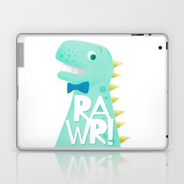 Cute Dinosaur Bow Tie Illustration | RAWR Laptop & iPad Skin
